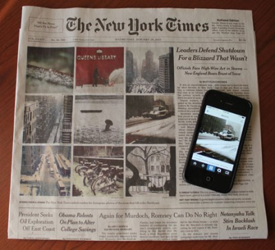Instagram fotók a New York Times címlapjánKatie Hawkins-Gaar/Poynter