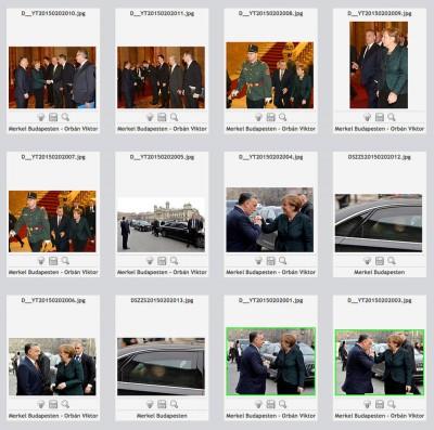 MTI képek Merkel érkezésérőlZöld keret jelzi az ingyen kiadott fotókat