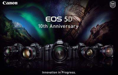 A Canon az 5D család 10. születésnapját ünnepliForrás: Canon