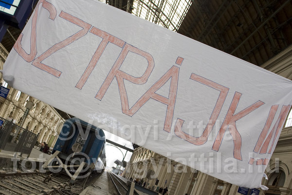 Korábbi vasutas sztrájk képe