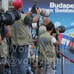 Fotós mellények a budapesti Úszó EB-n