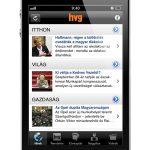 iPhone alkalmazás a HVG-től