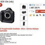 Volt-nincs Canon EOS 1DX a webshopban