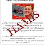 Már halálhírét keltik Michael Schumachernek